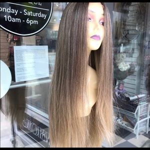 Accessories - Wig ombré Ash blonde brown Long Lacefront New Wig